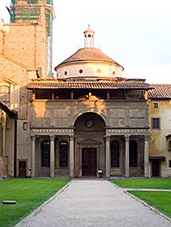 Church of Santa Croce - Florence: the Pazzi chapel