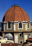 The dome of San Lorenzo church in Florence